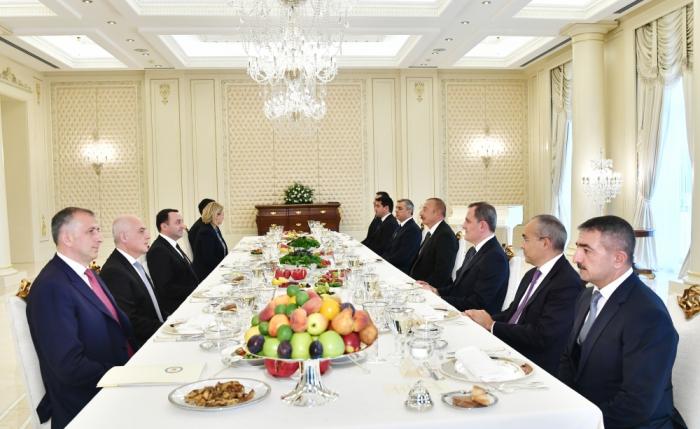 President Aliyev and Georgian PM Garibashvili have joint working dinner