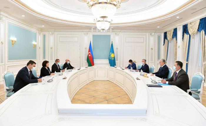 Azerbaijani parliament speaker meets with Kazakh president