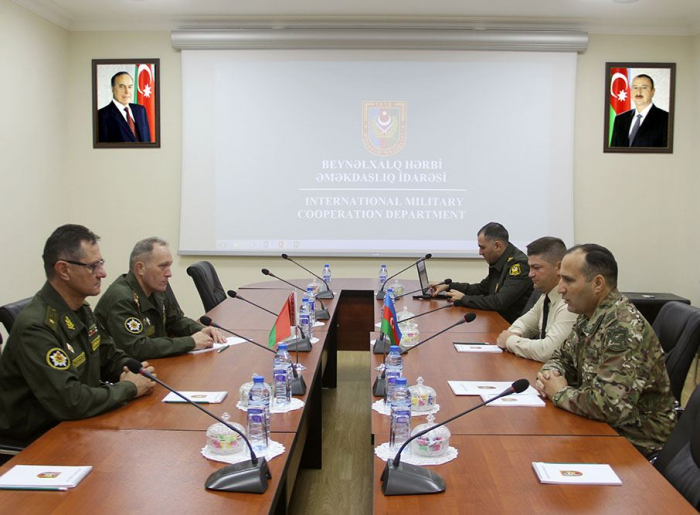 Delegations of Ministries of Defense of Azerbaijan and Belarus held a working meeting