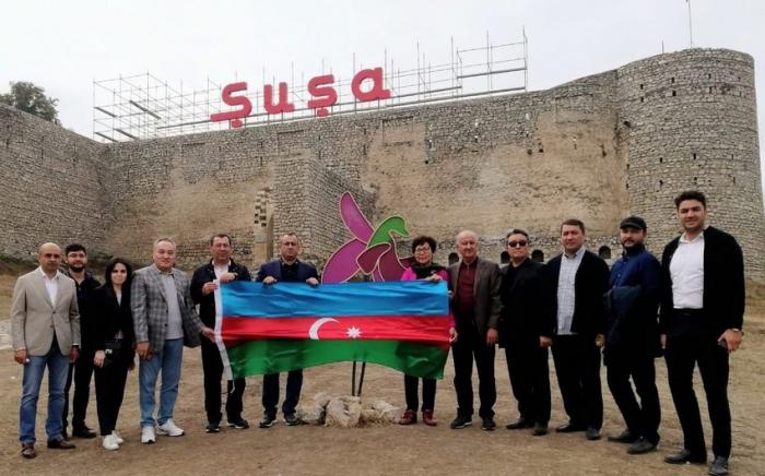 Qazaxıstanın nümayəndə heyəti Şuşa və Füzulidə -  FOTOLAR