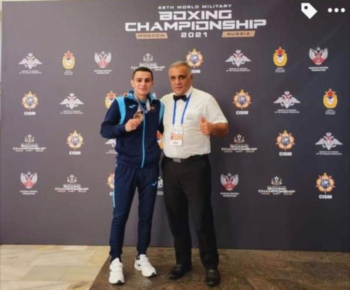 Azerbaijan's Tayfur Aliyev wins bronze at World Military Boxing Championships