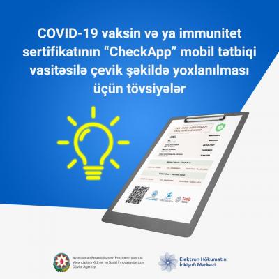 Vaksinin və immun sertifikatları necə yoxlanılmalıdır