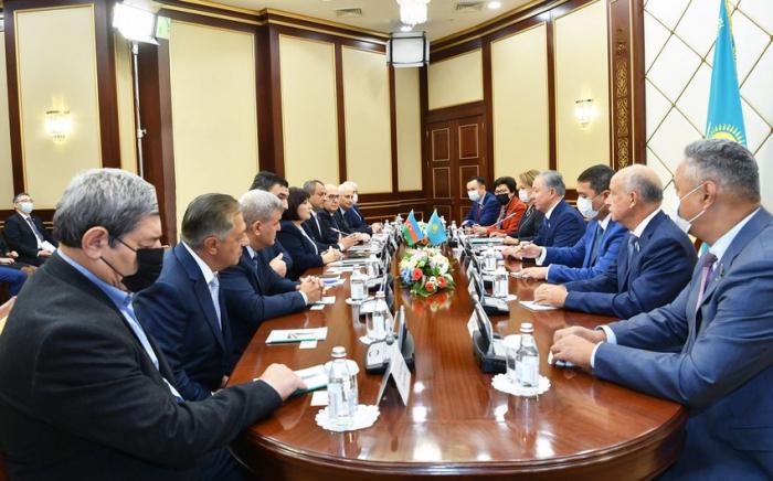 Azərbaycan və Qazaxıstan parlament sədrlərinin görüşü olub