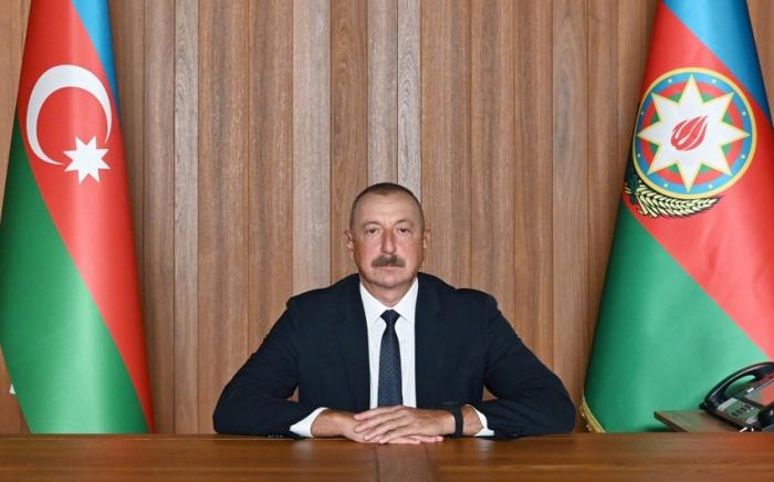 Le président Ilham Aliyev prononce un discours lors du débat général de la 76e session de l