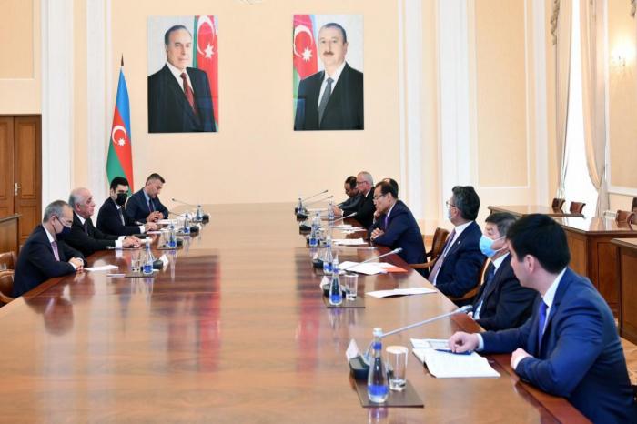 Le Premier ministre azerbaïdjanais rencontre une délégation du Conseil turc