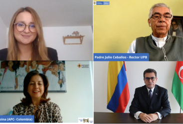 """Colombia inicia la IX versión de la """"Iniciativa de difusión de la cultura colombiana a través de la enseñanza del español"""" para funcionarios públicos de Azerbaiyán"""