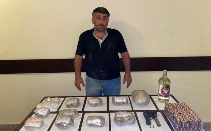 İrandan Azərbaycana keçmək istəyən narkotacir saxlanılıb
