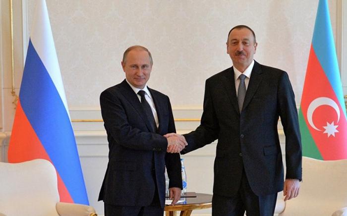 Azərbaycan Prezidenti Putinə təbrik məktubu ünvanlayıb