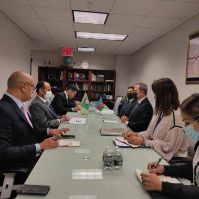Azerbaijani FM holds meeting with Secretary General of GCC