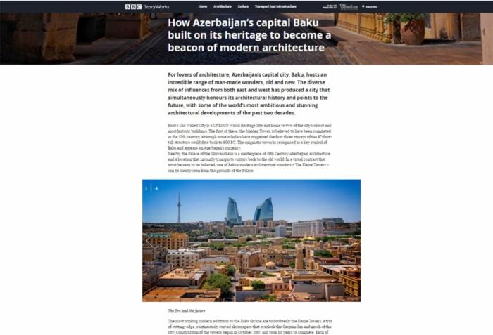Noticias de BBC:   Bakú, con su patrimonio cultural, se ha convertido en un faro de la arquitectura moderna