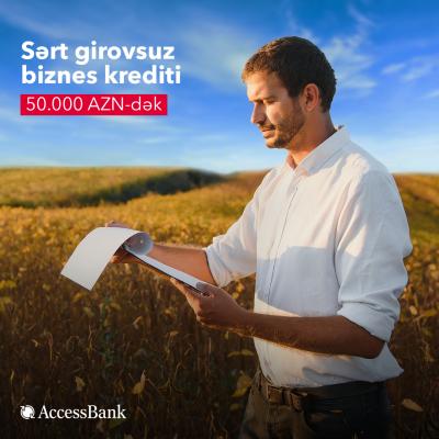 """""""AccessBank""""dan sərt girovsuz mikro və aqro kreditlər!"""