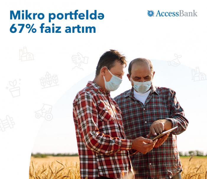 AccessBank-ın mikro portfeli 67% faiz artıb