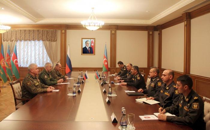 Zakir Həsənov Qarabağdakı Rusiya sülhməramlılarının yeni komandanı ilə görüşüb