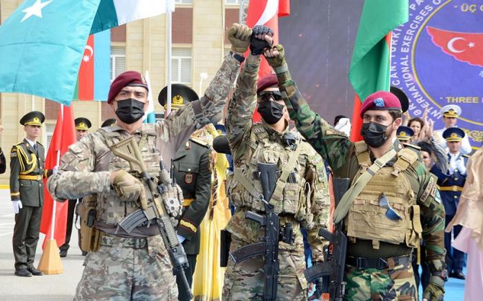 Cérémonie d'ouverture de l'exerciceconjoint des armées azerbaïdjanaises, turques et pakistanaises -VIDEO