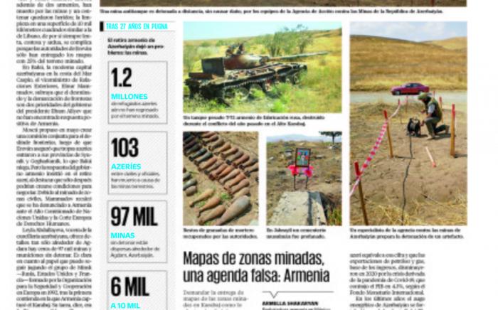 Meksikalı jurnalist erməni vandalizmindən yazdı