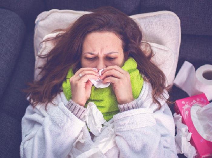 Verlauf einer Erkältung:  In dieser Erkältungsphase befindest du dich