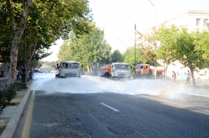 Se está llevando a cabo desinfección a gran escala en Bakú