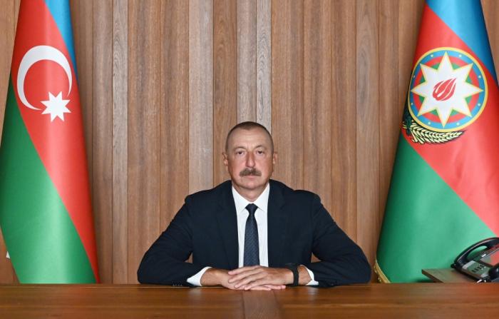 """Presidente Aliyev  : """"Mientras que algunas resoluciones del Consejo de Seguridad se aplican en cuestión de días, en nuestro caso llevaron sin cumplirse durante 27 años """""""