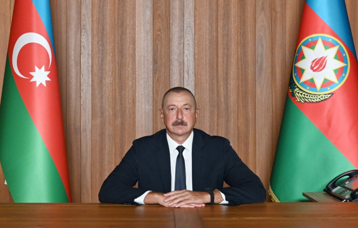 """El jefe de Estado  : """"Armenia debe asumir la responsabilidad a nivel estatal por la agresión militar contra Azerbaiyán y otros graves crímenes"""""""