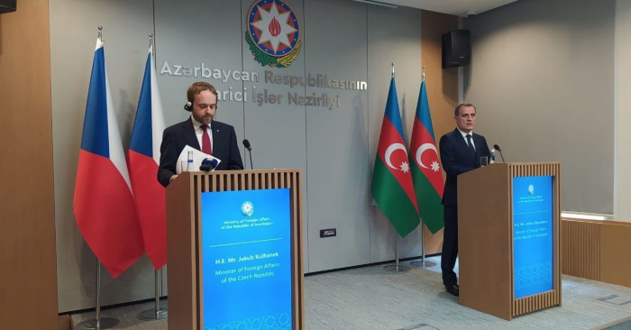 Azerbaijani and Czech FMs hold press conference in Baku