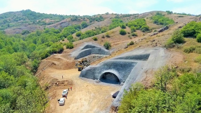 Excavation work ends on part of tunnel on Azerbaijan