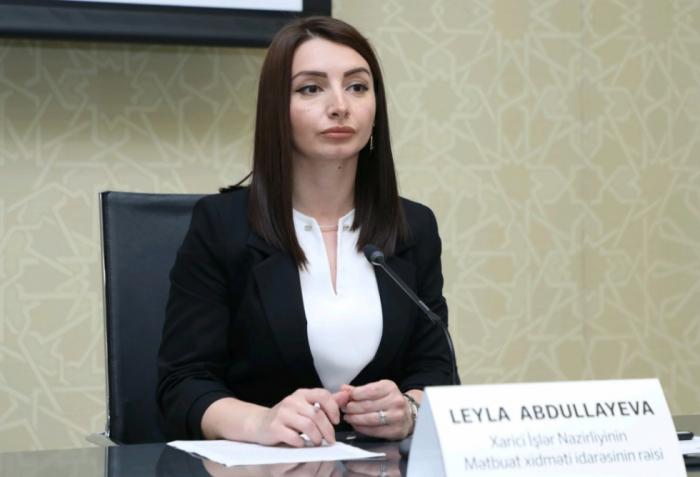 الخارجية:   الادعاءات عن وجود القوى الثالثة قرب الحدود بين أذربيجان وإيران لا أساس لها من الصحة