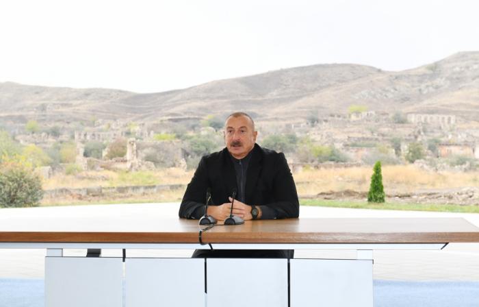 الرئيس إلهام علييف يتحدث عن اهمية عملية جبرائيل في سير الحرب الوطنية
