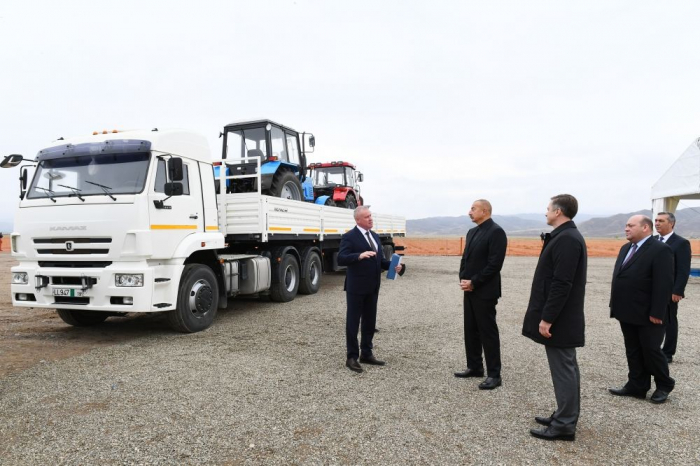 President Ilham Aliyev visits liberated Jabrayil district