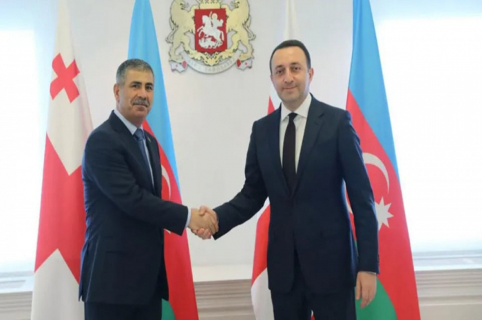 Azerbaijani defense minister meets with Georgian PM