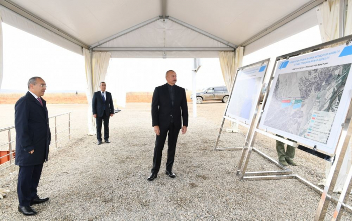 "President Aliyev lays foundation of ""Araz Valley economic zone"" industrial park"