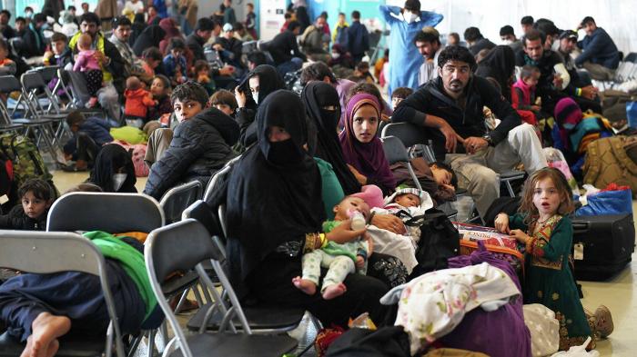 Umfrage -   was Europäer von Flüchtlingsaufnahmehalten