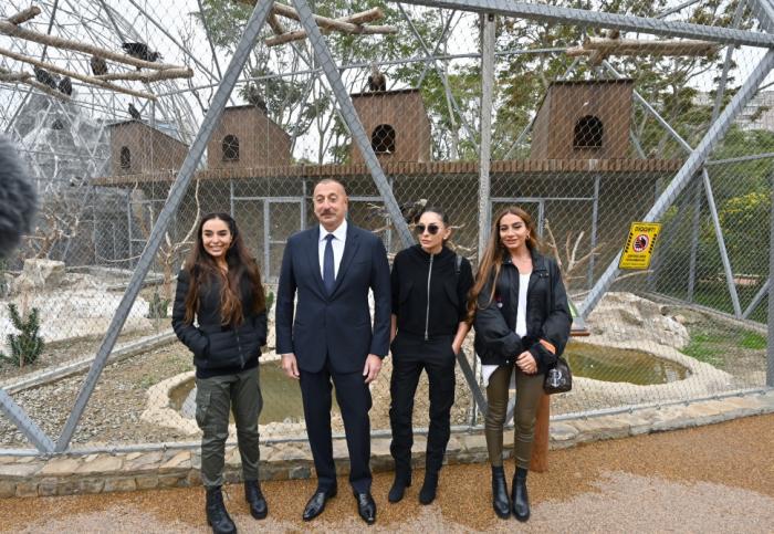 İlham Əliyev və birinci xanım Zooloji Parkın açılışında -  FOTOLAR - YENİLƏNİB