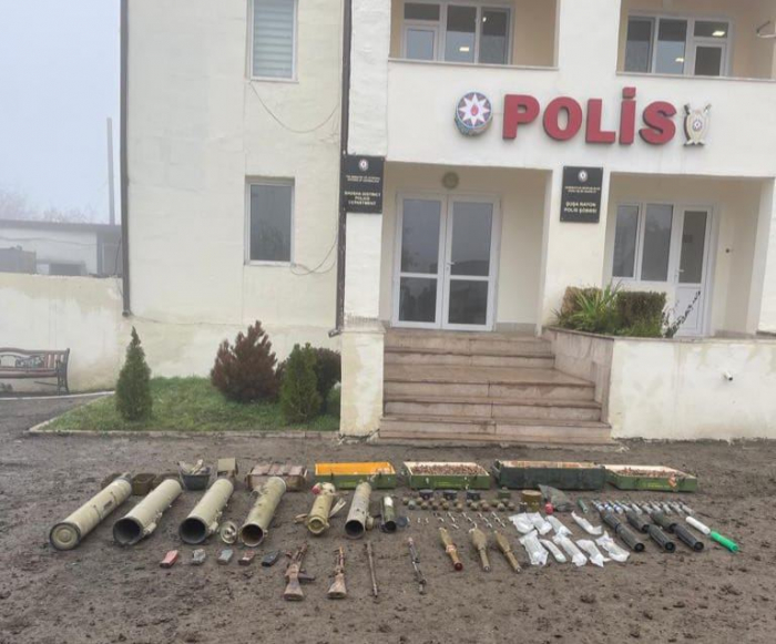 Azerbaijani police detect batch of weapons, munitions in liberated Shusha