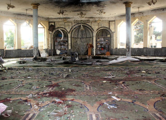 Suicide bomber kills 46 at Afghanistan mosque