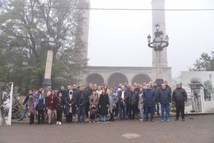 Press attachés, foreign journalists visit historical and religious monuments in Shusha