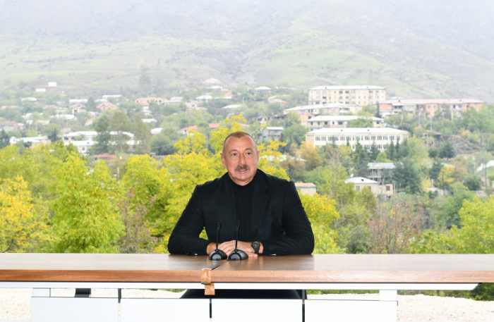 Liberation of Hadrut settlement allowed us to reach our goals, says President Ilham Aliyev