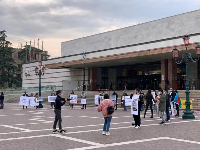 Aserbaidschanische Gemeinde veranstaltete eine Kundgebung in Venedig