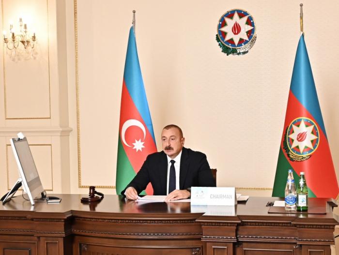 Ilham Aliyev spricht über die militärische Aggression Armeniens