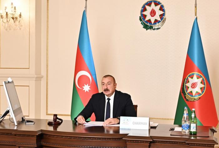 """Presidente Ilham Aliyev  : """"El apoyo que nos brindan los siete países del Movimiento de Países No Alineados es muy valioso"""""""