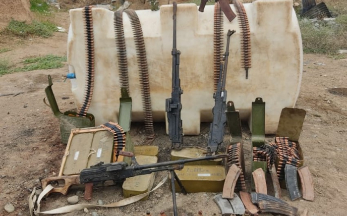 Azerbaijani police find weapons, ammo left by Armenians in liberated territories