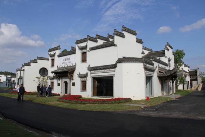 """Aserbaidschanischer Pavillon in Chinas """"Antike Siedlungen"""" Park   - FOTOS"""