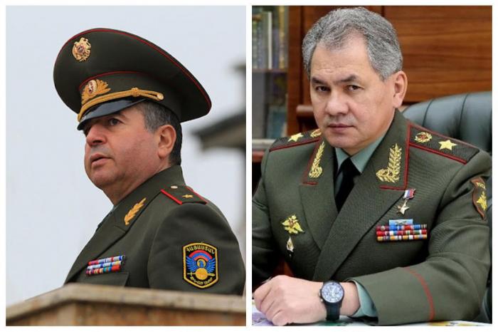Shoigú discute la situación en la frontera entre Armenia y Azerbaiyán con su homólogo armenio