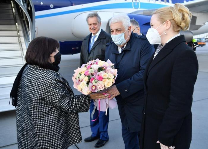 Sahiba Gafarova besuchte Russland