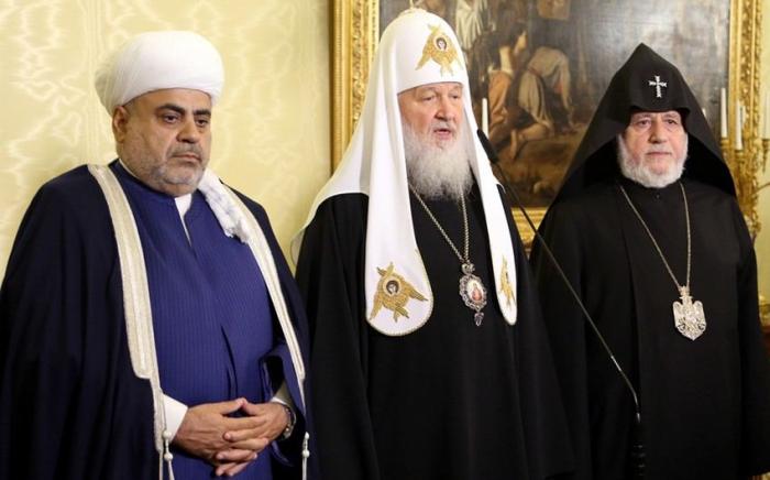 Religiöse Leader Aserbaidschans, Russlands und Armeniens treffen sich in Moskau