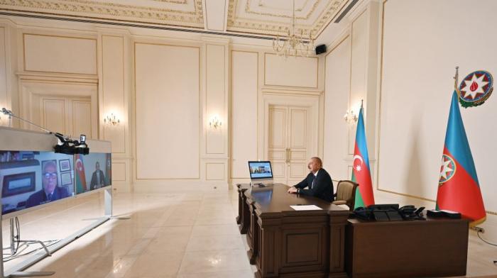 Ilham Aliyev:   Italien war eines der ersten Länder, das an der Wiederaufbau des befreiten Landes Aserbaidschans beteiligt war