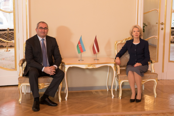 Azerbaijani ambassador meets with Latvian parliament speaker