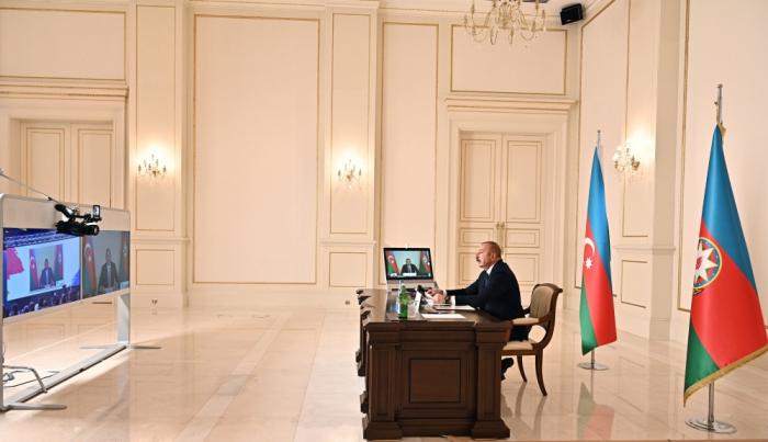 President Aliyev addresses NAM High-Level Commemorative Meeting in video format