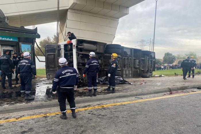 Un camion percute un bus à Bakou: 5 morts et 13 blessés -  PHOTO