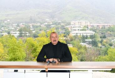 Une nouvelle ère commence à Hadrout et, en général, dans le Karabagh, dit le président azerbaïdjanais