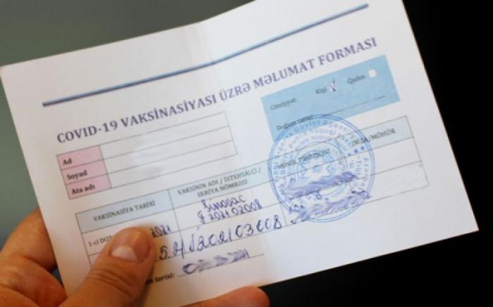Şamaxıda saxta COVID pasportu satanlarla bağlı cinayət işi başlandı